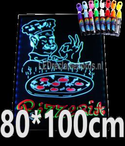 LED schrijfbord 80cm*100cm | 90 functies